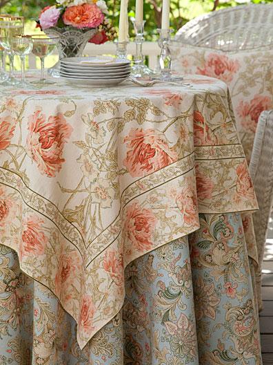 Rose Nouveau Tablecloth Antique Linens Amp Kitchen