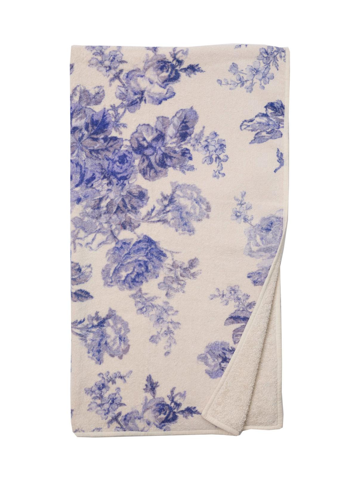 Victorian Rose Terry Bath Towel Softblue April S Attic