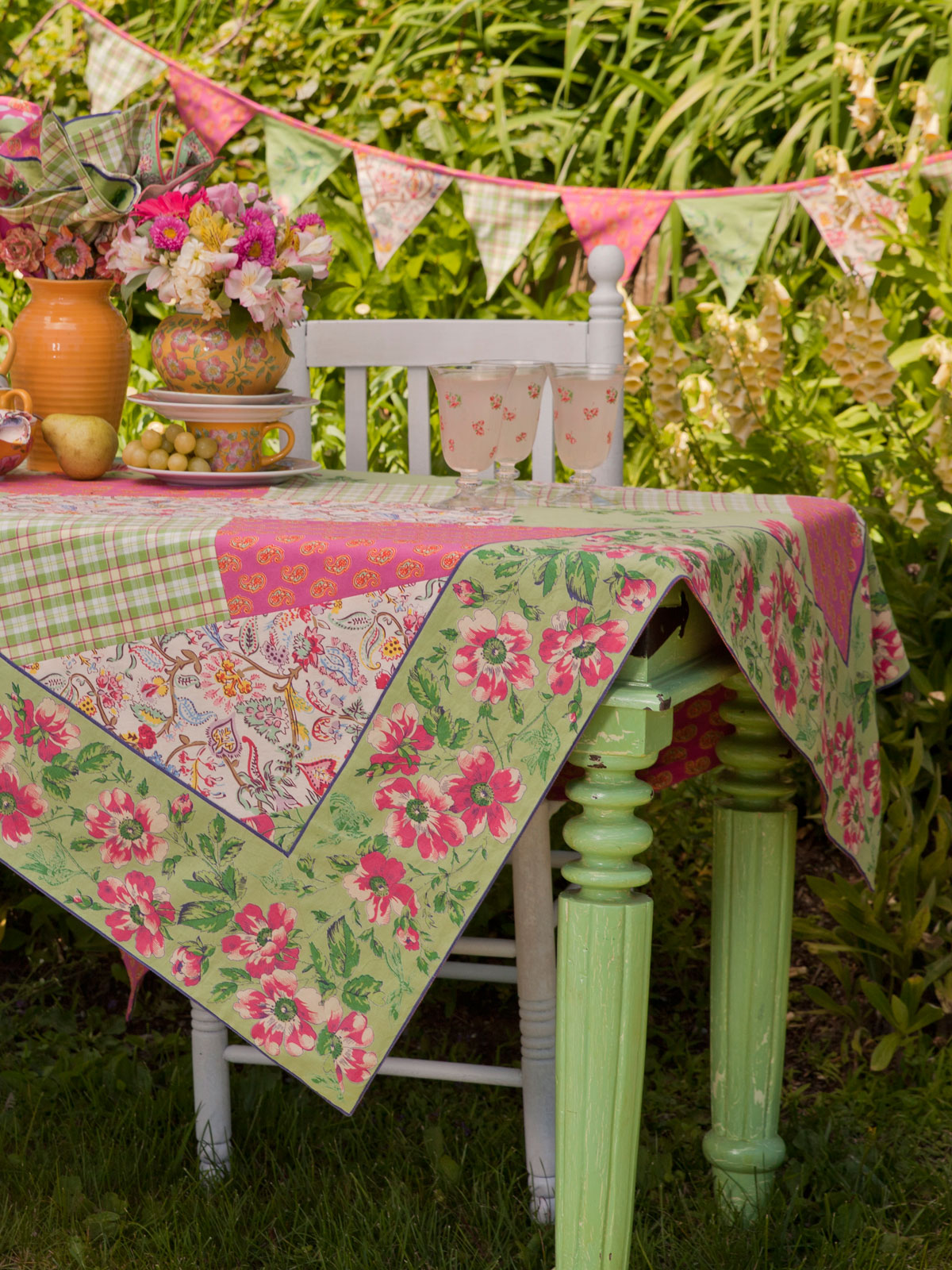 Bright Patchwork Pennants | April's Attic Sale, Your Home ...