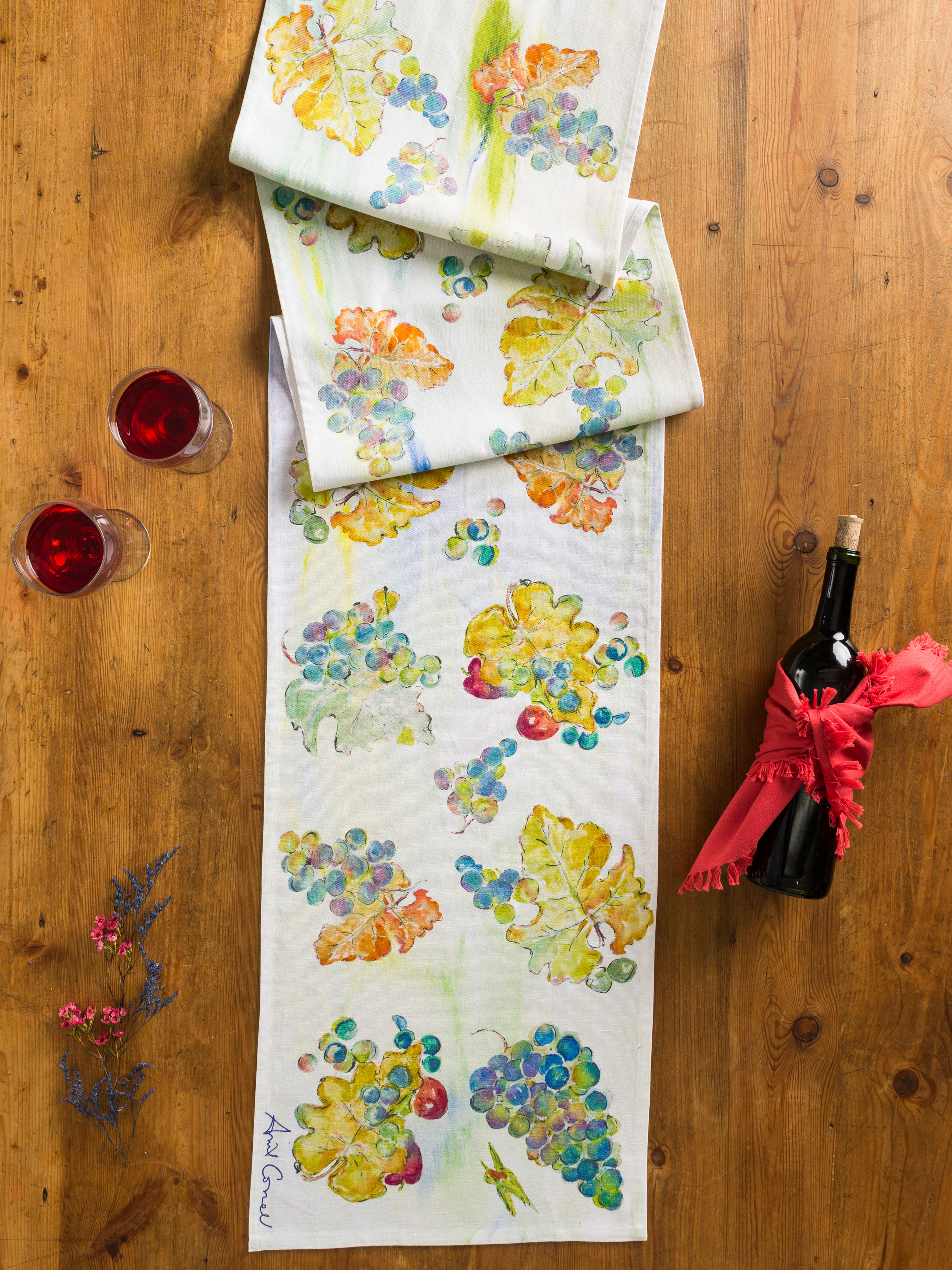 Wine Country Table Runner April S Attic Linens Kitchen Beautiful Designs By Cornell