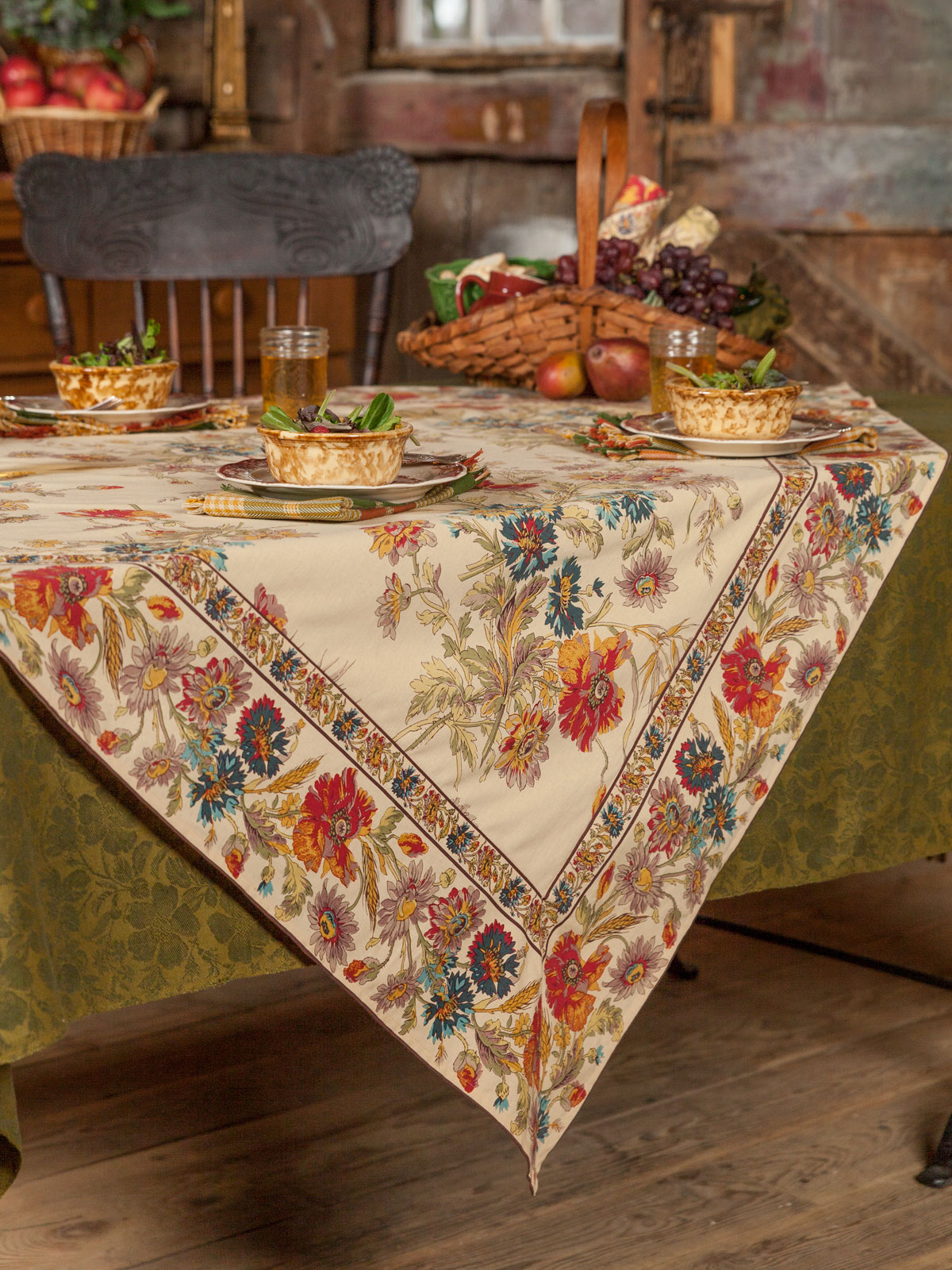 Wildflowers tablecloth linens kitchen tablecloths for Table linens