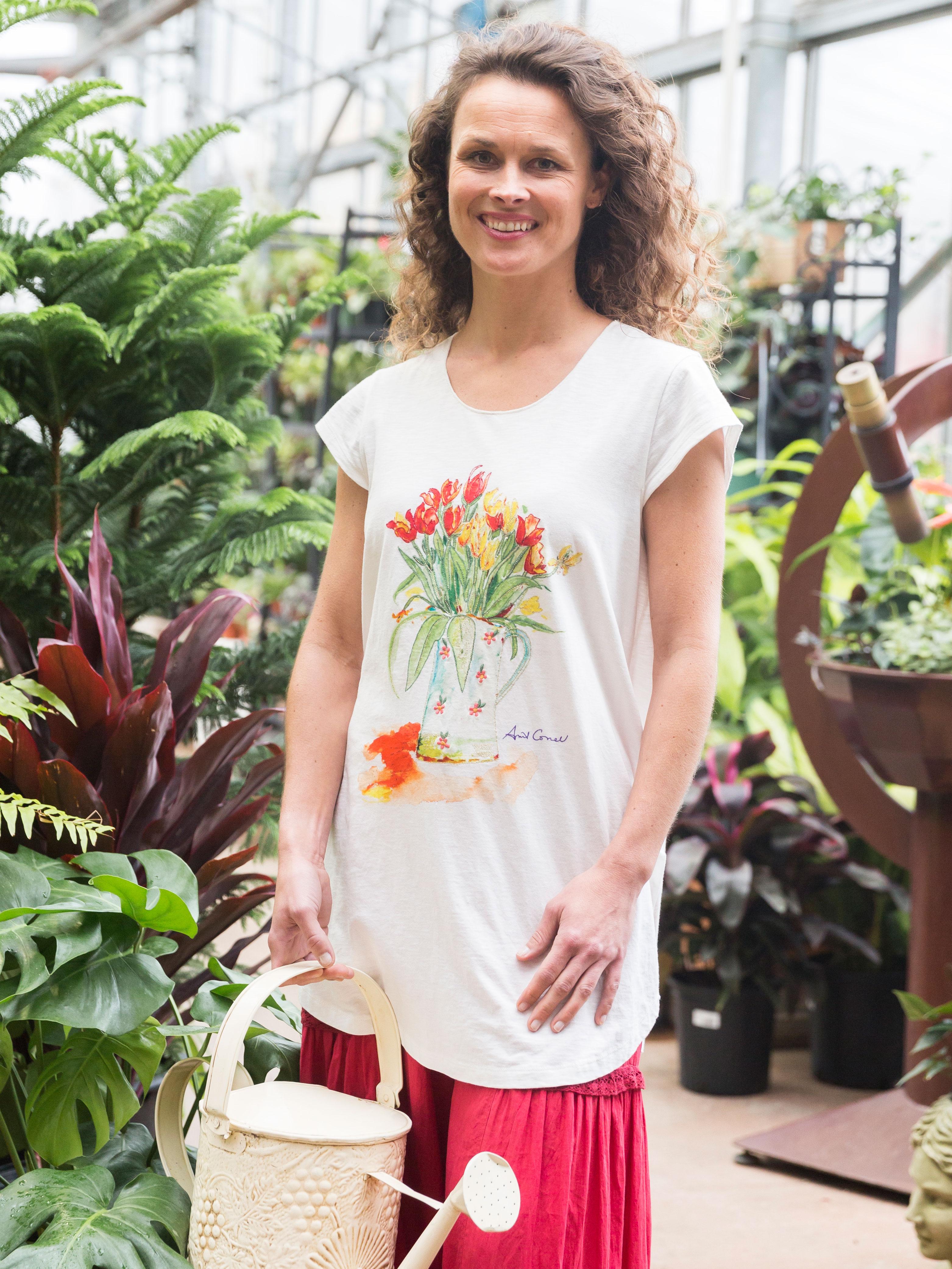 Shirt design ladies - Tulip T Shirt