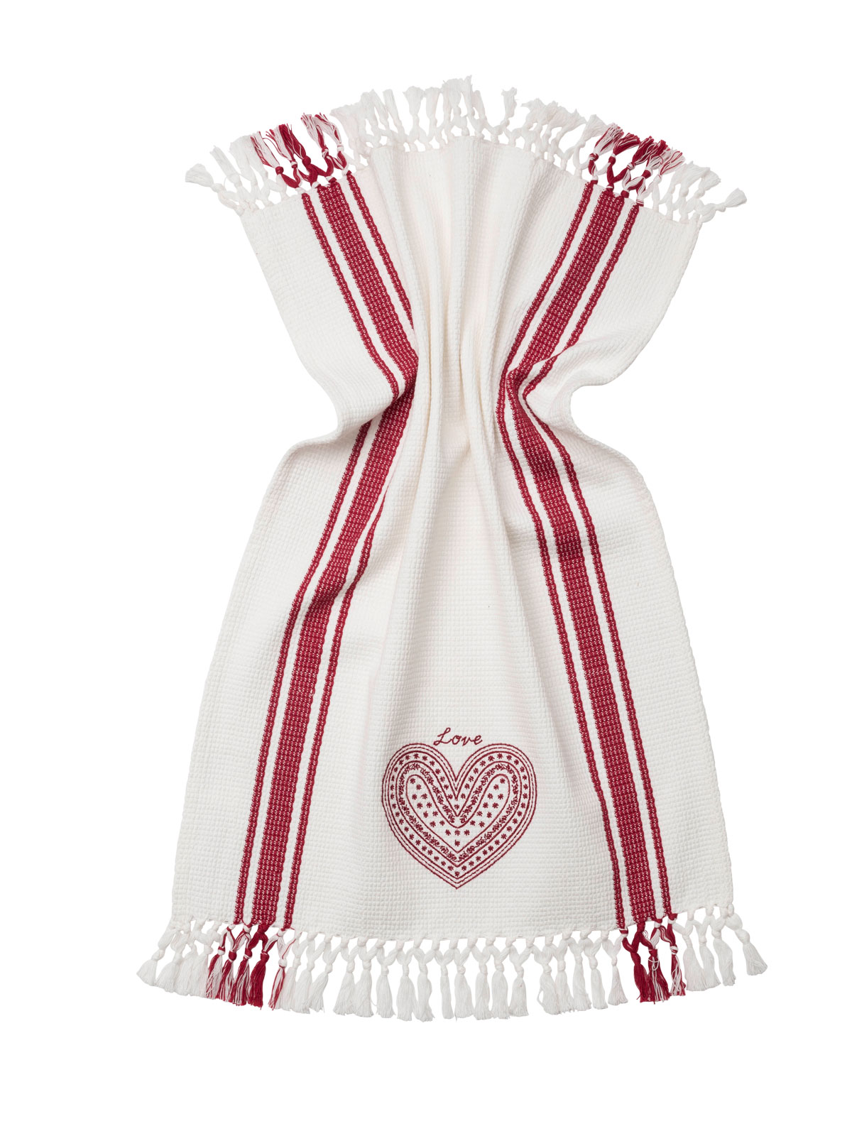 Love Embroidered Tea Towel White Item Ttelov1 White Choose Size One