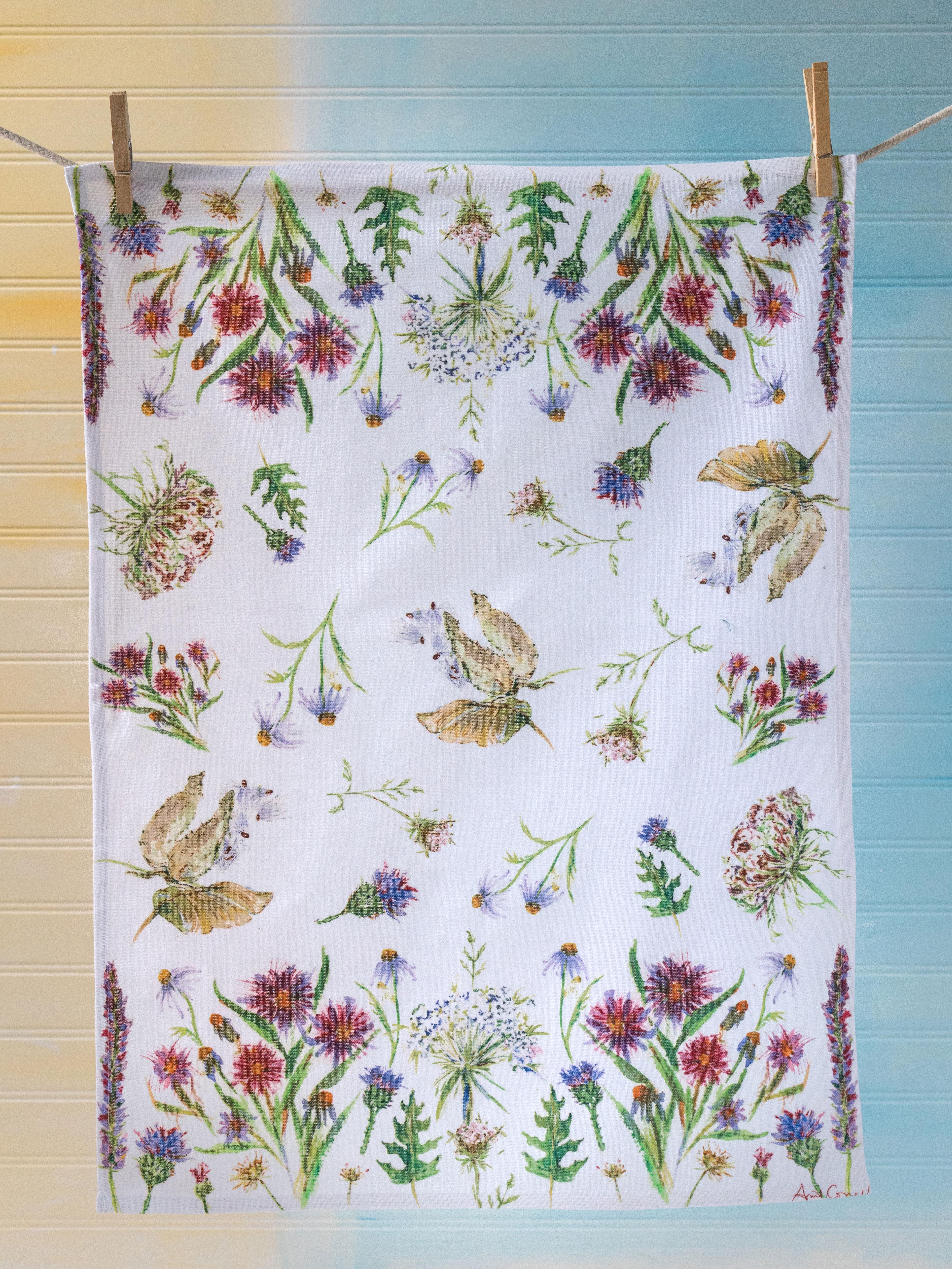 Field Flower Tea Towel | Linens & Kitchen, Tea Towels & Tea Cozies ...