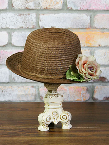 Melissa Molasses Straw Hat & Hatbox
