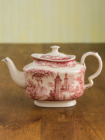 Red & White Teapot