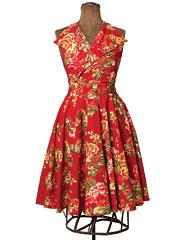 Victorian Rose Collar Apron