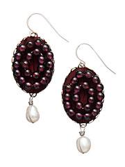 Regal Garnet Dangle Earrings