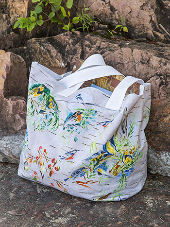 Boreal Birch Birds Market Bag