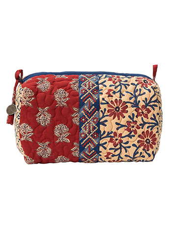 Flea Market Patchwork Large Cosmetic Bag