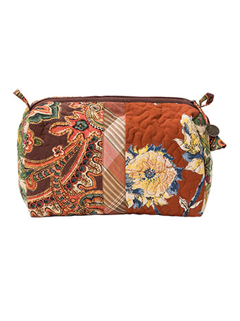 Harvest Riches Patchwork Large Cosmetic Bag
