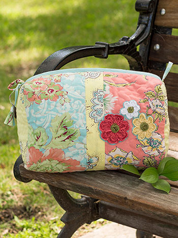 Garden Patchwork Large Cosmetic Bag