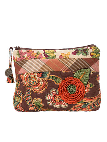 Harvest Riches Patchwork Small Cosmetic Bag