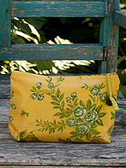 Garden Sparrow Oil Small Cosmetic Bag