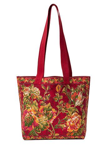 Tea Rose Market Bag - Brick