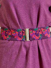 Rose Beaded Cinch Belt