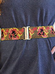 Pansy Beaded Cinch Belt