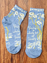'You're a whole lotta lovely' Ankle Socks