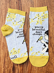 'You're beautiful don't change' Ankle Socks