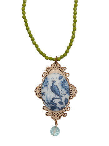 Indigo Bird Necklace
