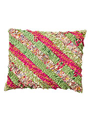 Bright Patchwork Ruffle Cushion