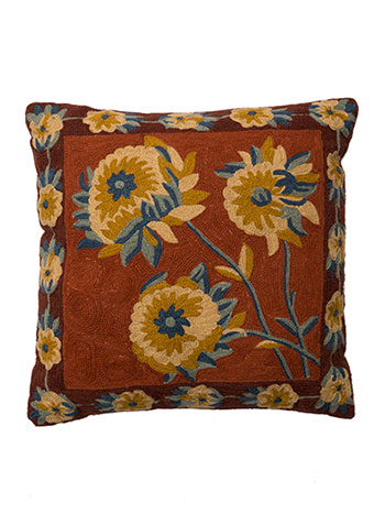 Sun Follower Crewel Cushion