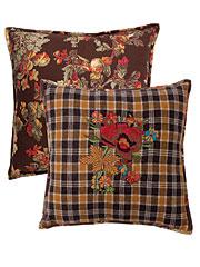 Autumn Splendour Embroidered Cushion