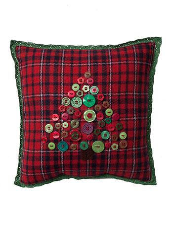 Button Tree Emb Cushion