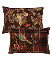 Fall Foliage Embroidered Cushion