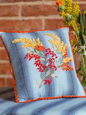 Goldenrod Emb Cushion