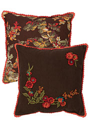 Harvest Bouquet Embroidered Cushion
