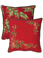 Joyful Embroidered Cushion