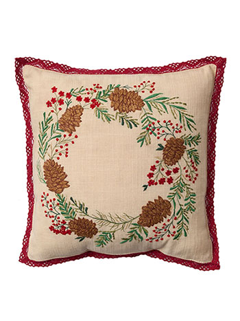 Pinecone Emb Cushion