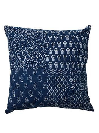 Indigo Blockprint Cushion