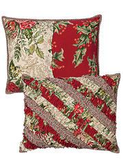 Joyful Patchwork Ruffle Cushion