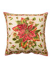 Poinsettia Cushion Cover