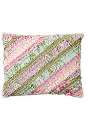 Pretty Patchwork Ruffle Cushion