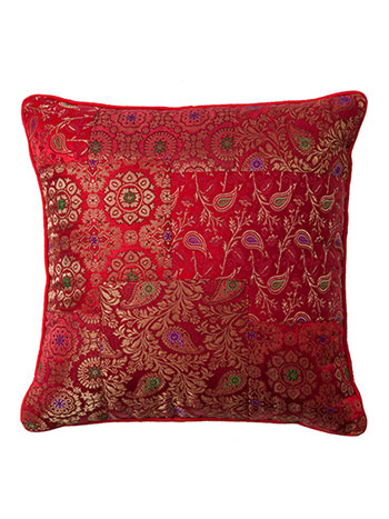 Ruby Brocade Cushion