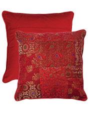Ruby Brocade Cushion