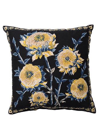 Sun Follower Cushion Cover - Black
