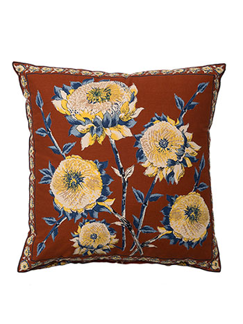 Sun Follower Cushion Cover - Rust