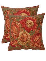 Sunflower Cushion Cover - Olive