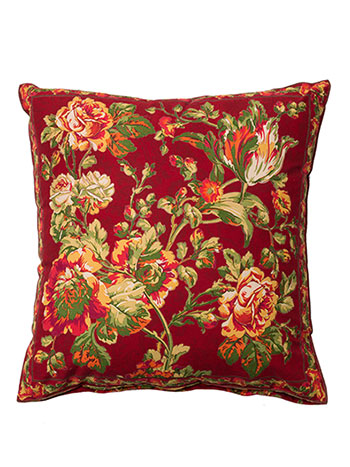 Tea Rose Cushion Cover - Brick