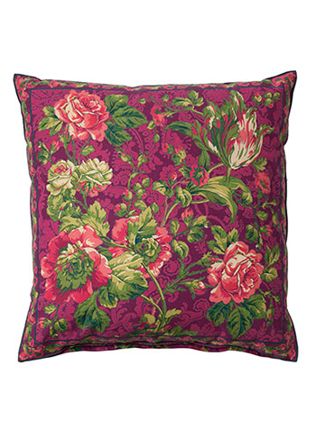 Tea Rose Cushion Cover - Plum