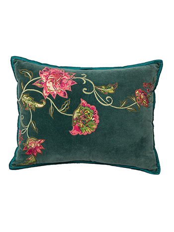 Conservatory Velvet Applique Cushion