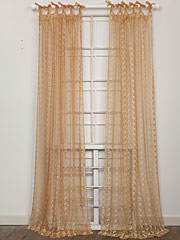 Nanette Embroidered Net Curtain - Gold