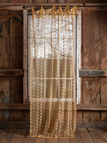 Nanette Net Curtain - Gold