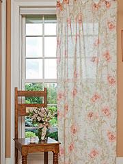 Rose Nouveau Voile Curtain