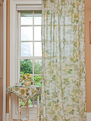 Tea Rose Voile Curtain