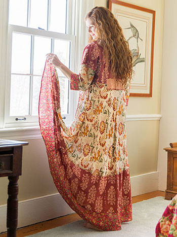 Bohemian Ladies Dressing Gown